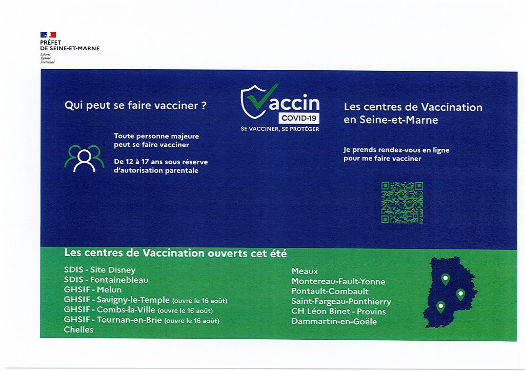 centres de vaccination ouvert cet été